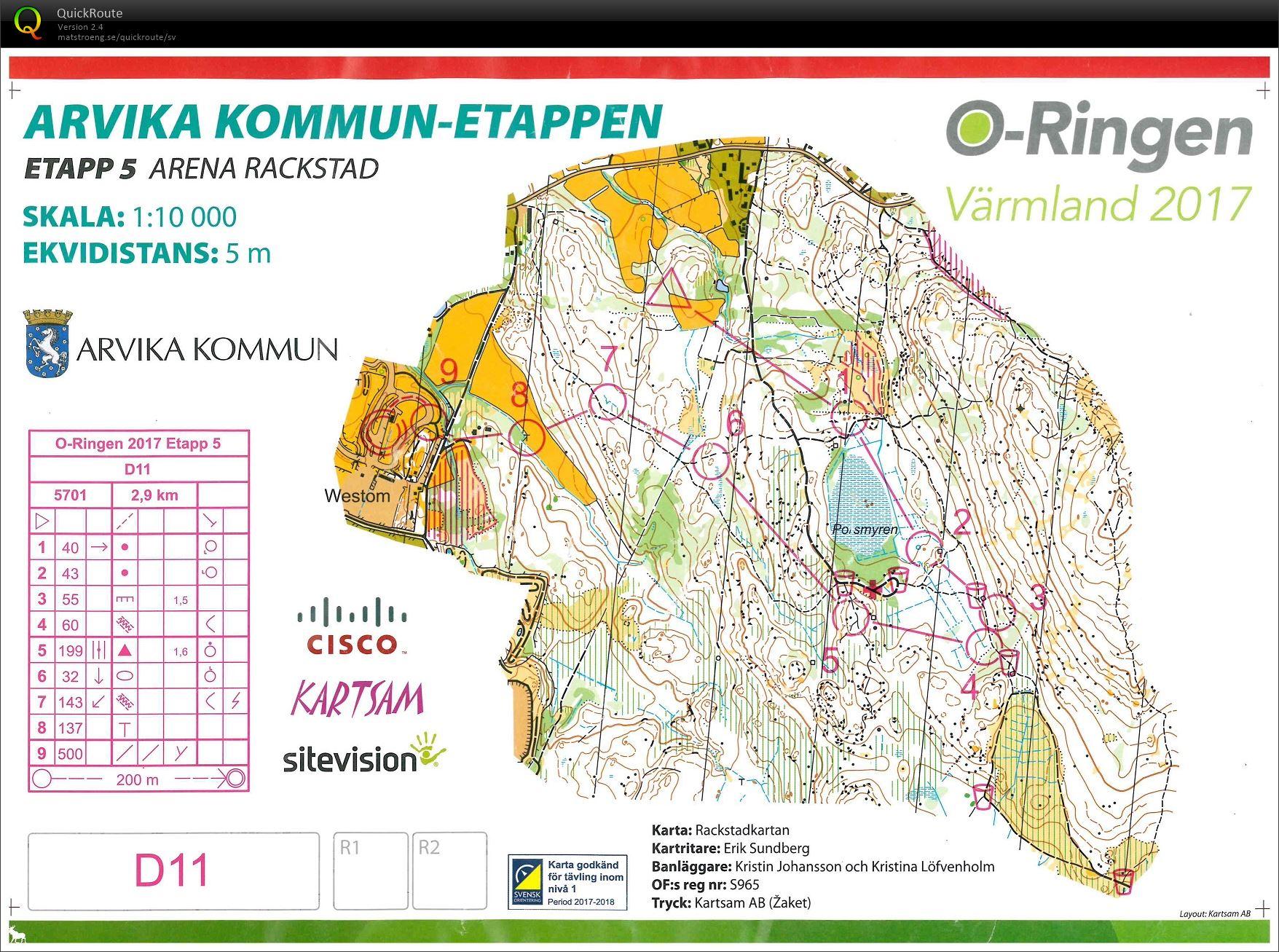 Karta Arvika Kommun.O Ringen Arvika Etapp 5 July 28th 2017 Orienteering Map From